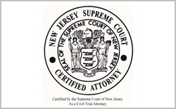 Edward Rebenack Certified by the Supreme Court of New Jersey as a Civil Trial Attorney